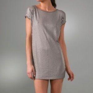 Vince Gray Sequin Tunic Dress Size Medium